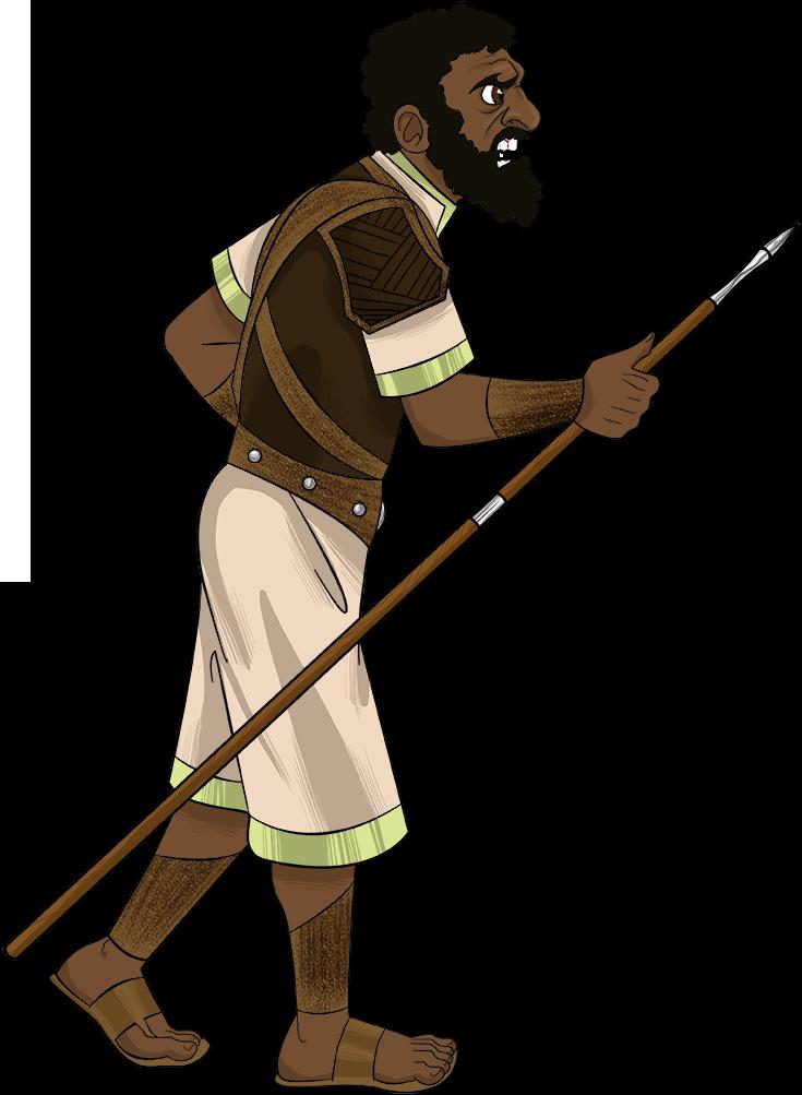 Fisherman clipart bible story. Philistine warrior david and