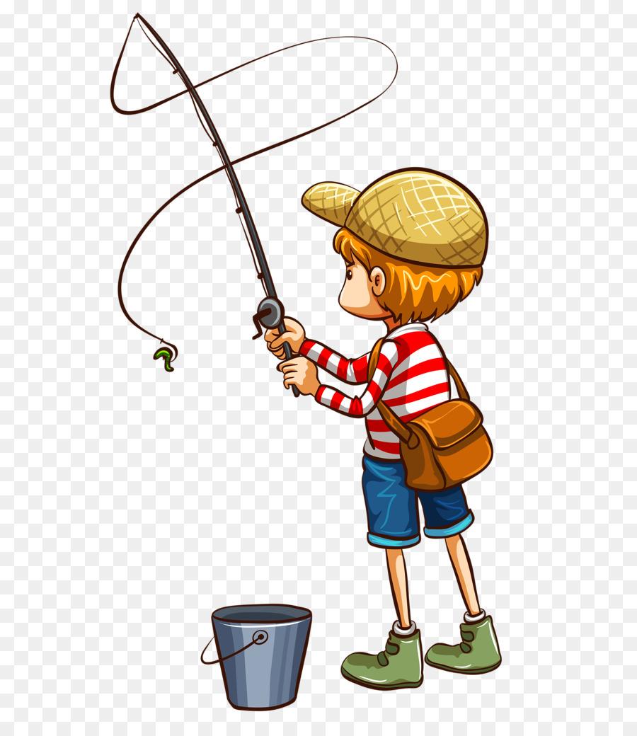 Fisherman clipart bucket fish. Download boy fishing png