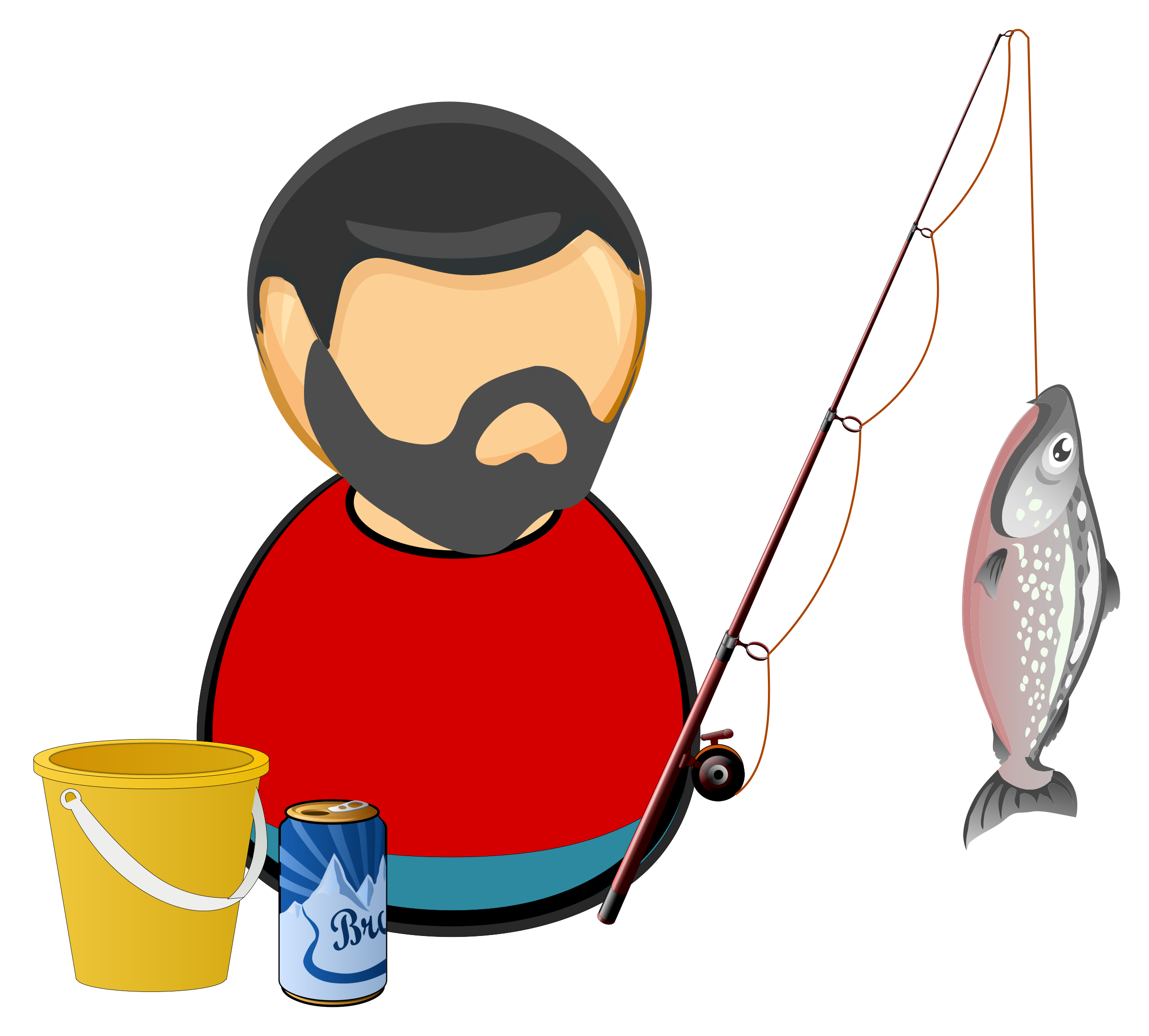 huge freebie download. Fisherman clipart clip art