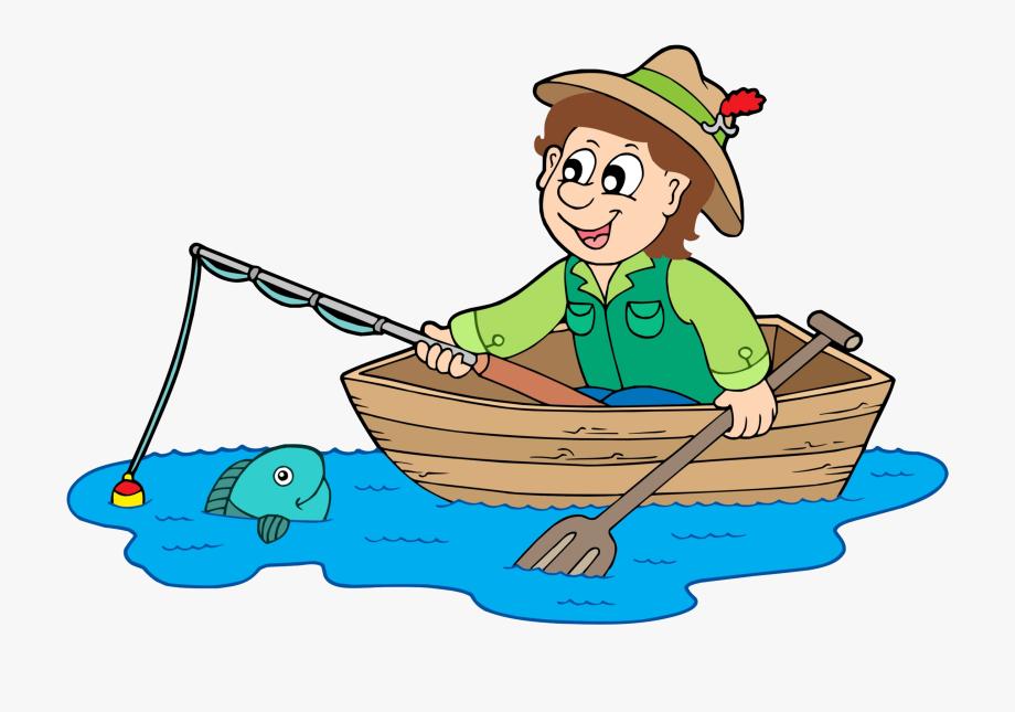 Royalty free clip art. Fisherman clipart cute cartoon