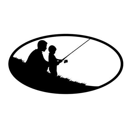 Amazon com father vinyl. Fisherman clipart dad son fishing