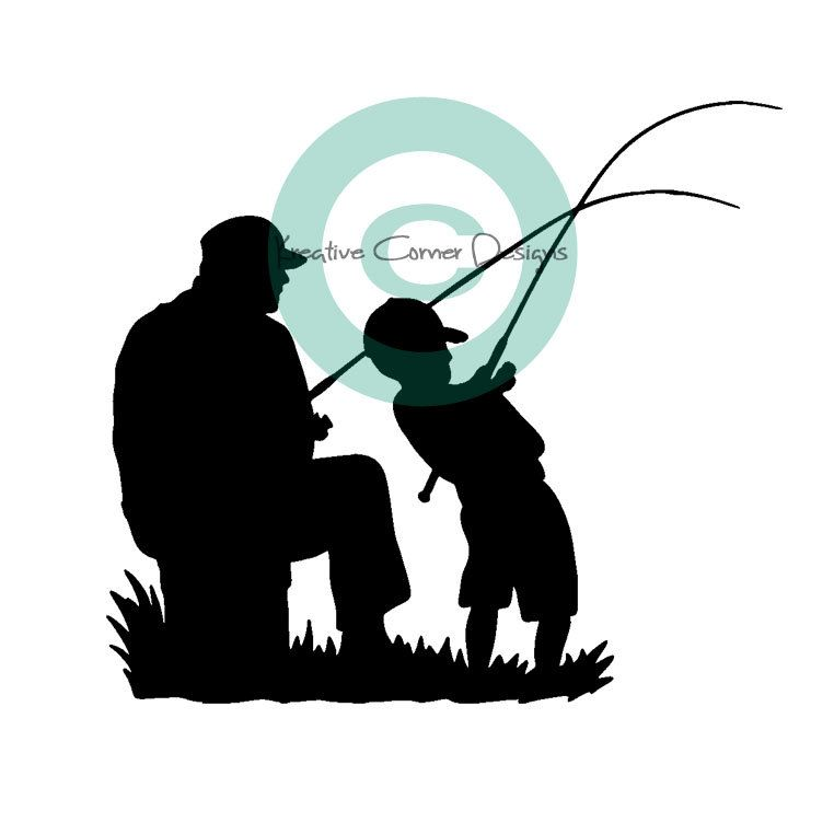 Fisherman clipart dad son fishing. Father and tattoo ideas
