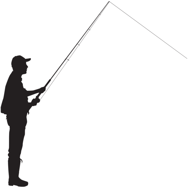 Fly fisherman at getdrawings. Fishing clipart silhouette