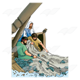 Fisherman clipart disciple fishing. Jesus disciples from a