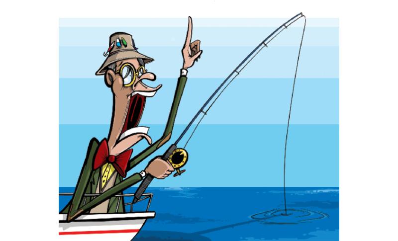 Fisherman family fishing