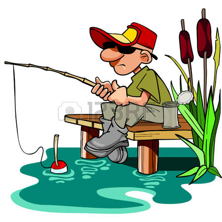 Fisherman clipart fish pond. Free download best on
