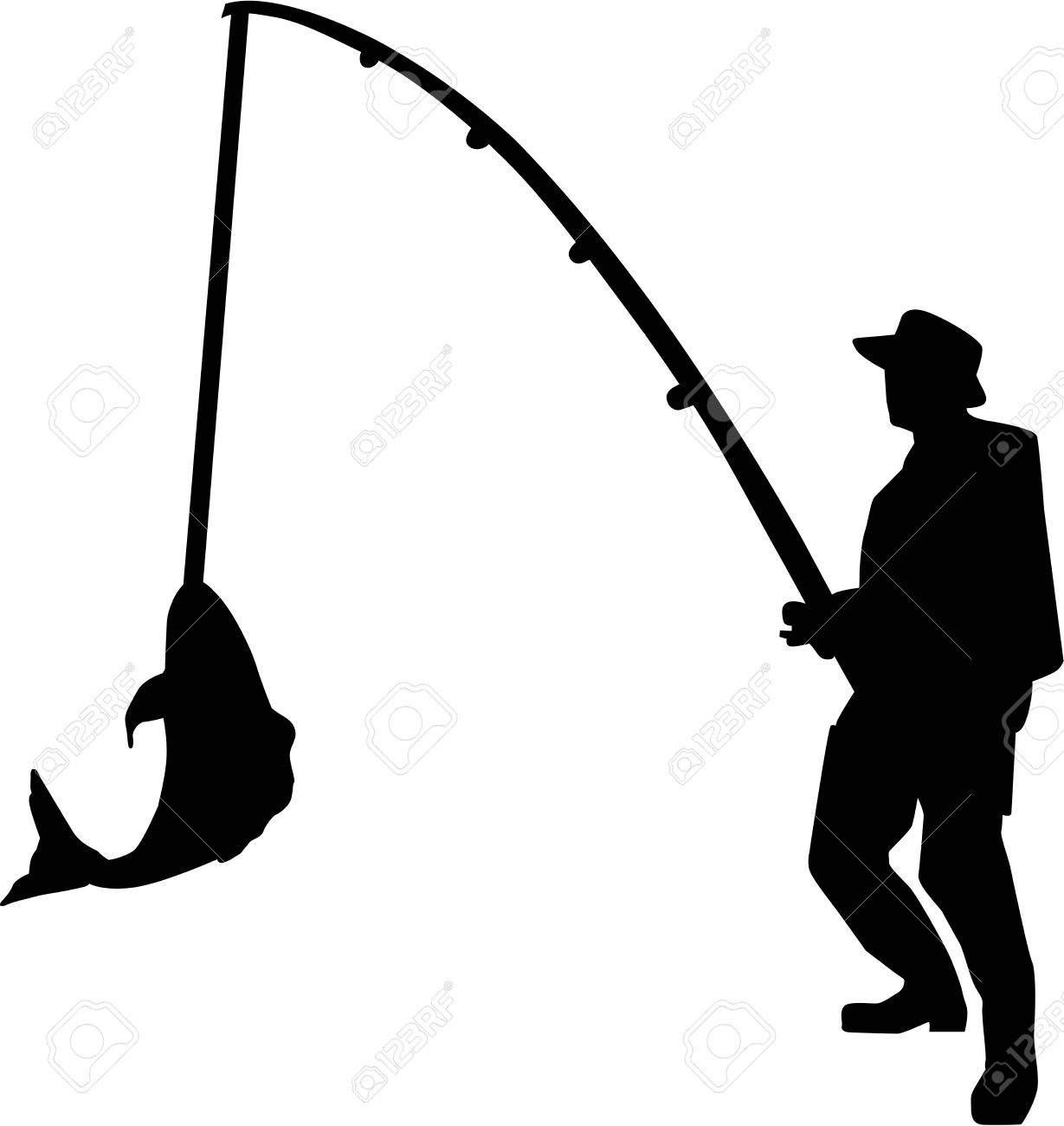 Black and white free. Fisherman clipart fishing pier