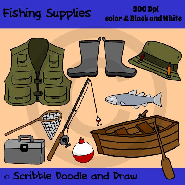 My clip art tpt. Fisherman clipart fishing vest