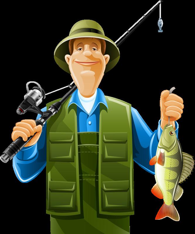Fisherman clipart fishing vest. Fishman png clip art