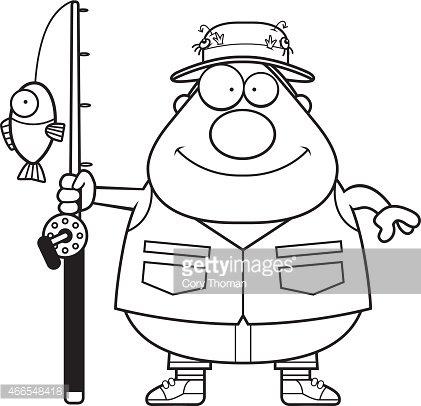 Cartoon premium clipartlogo com. Fisherman clipart happy