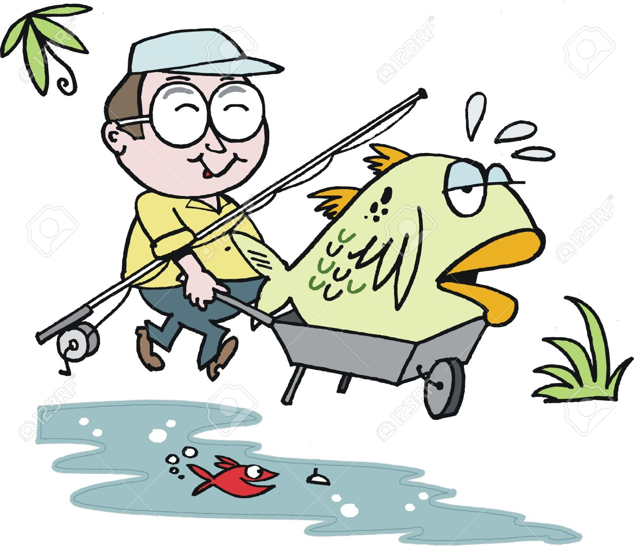 Fisherman clipart happy. Free x making the