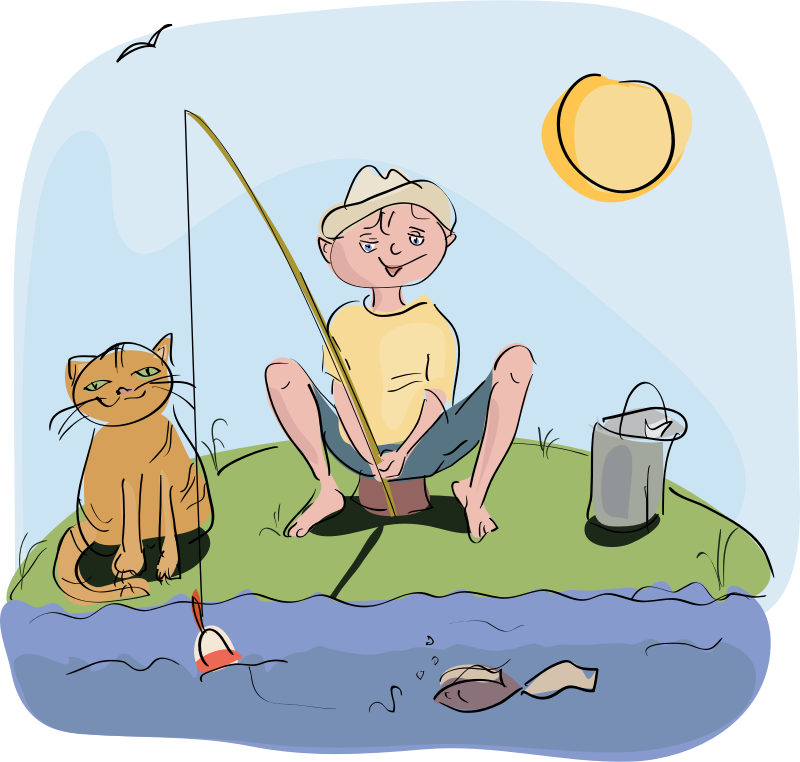 Fisherman clipart little boy. What the heck bobby
