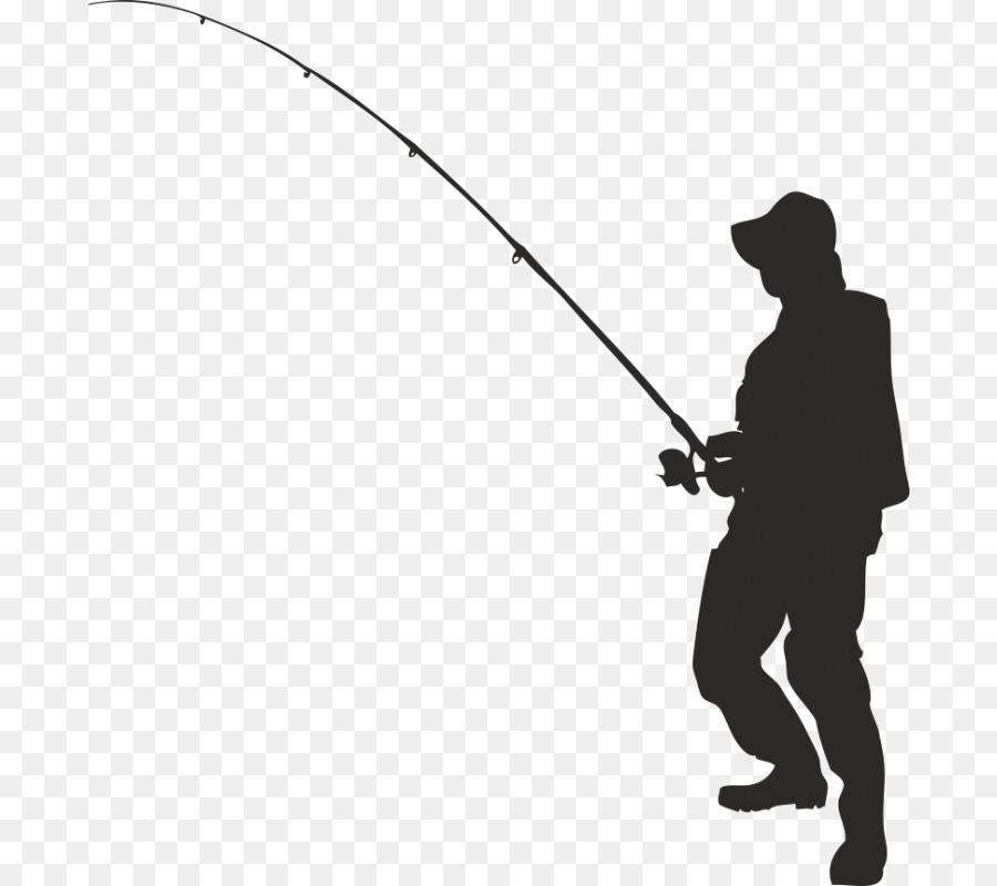 Vector graphics clip art. Fisherman clipart man fishing