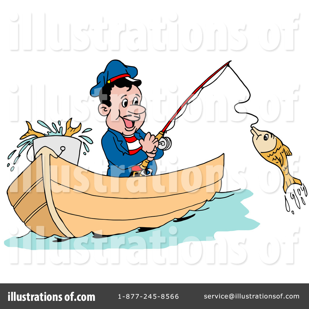 Fisherman clipart occupation. Fishing illustration by lafftoon