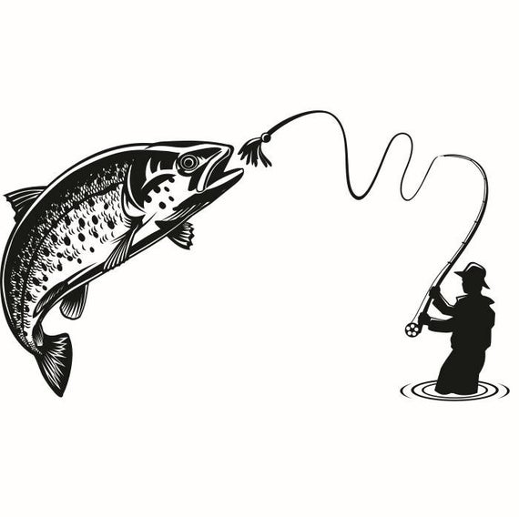 Trout clipart trout fisherman. Fly fishing fish river