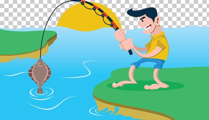 Fisherman clipart river fishing. Fish pond png angling