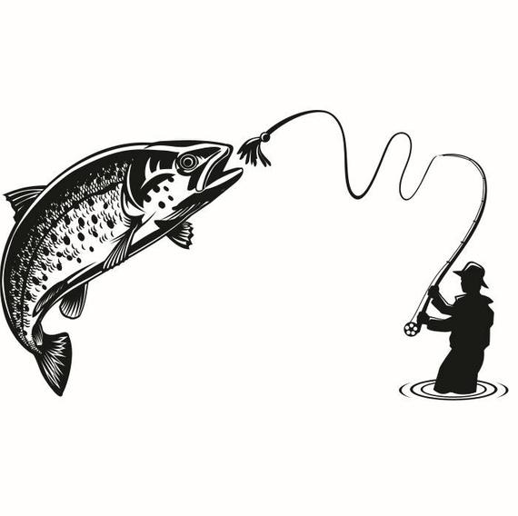 Fly trout fish lures. Fisherman clipart river fishing