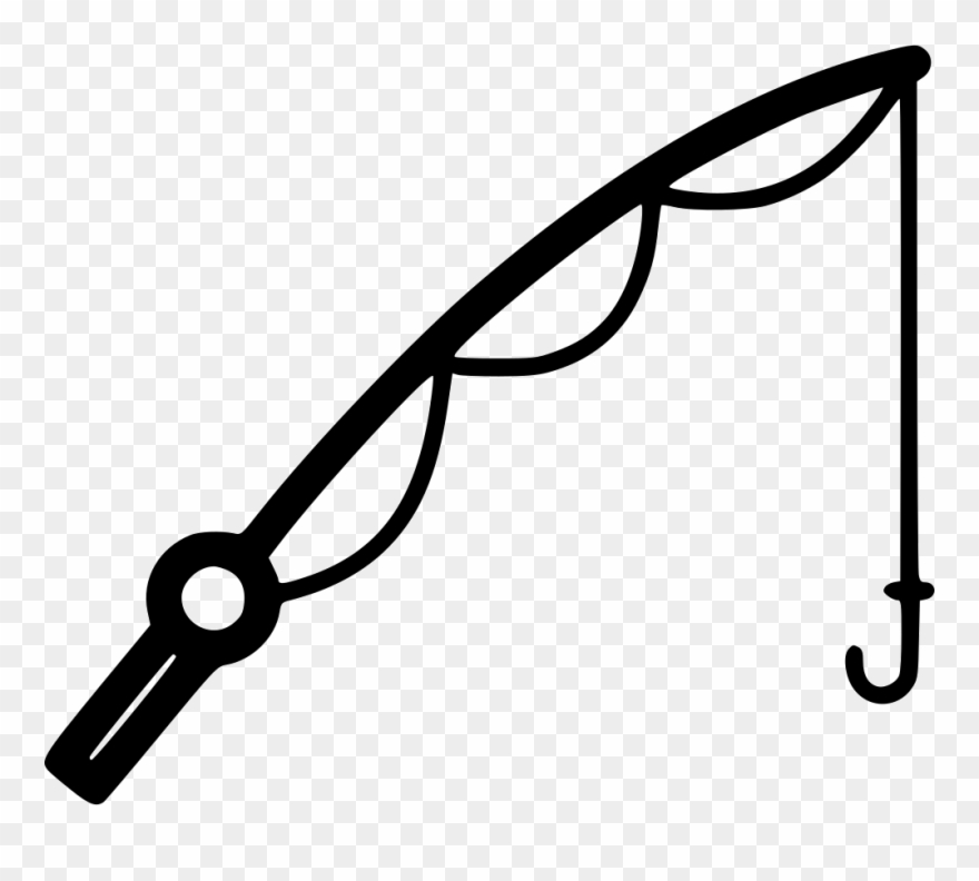 Fisherman clipart rod. Collection of black and
