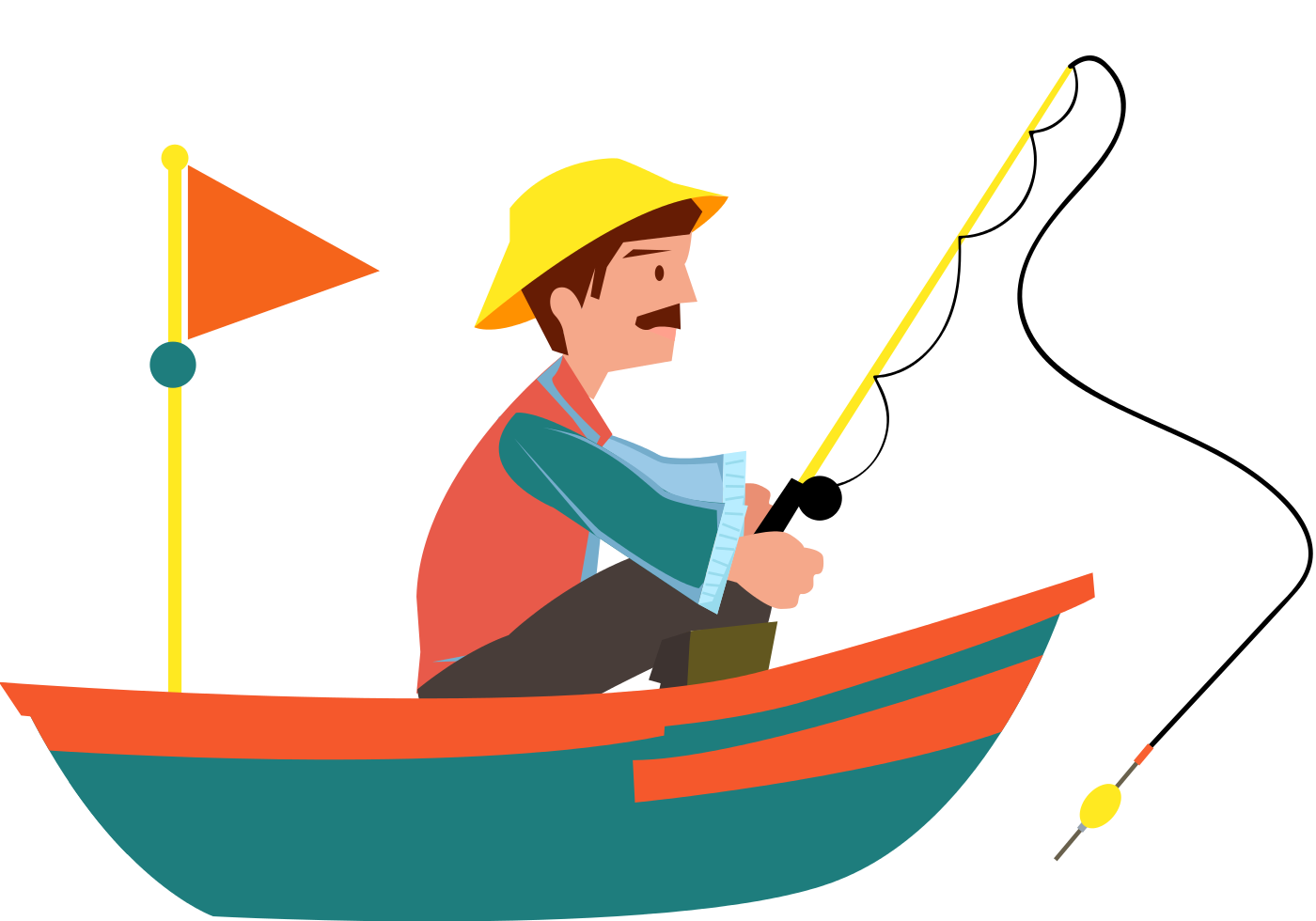 Fisherman clipart sad. Water sports in kerala