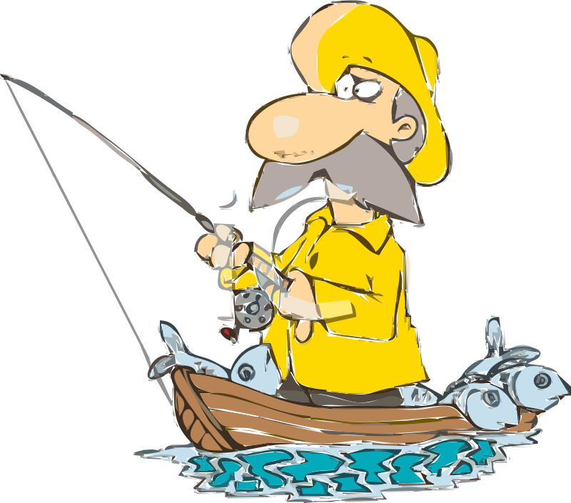Fisherman clipart salmon fishing. Pictures posters news and