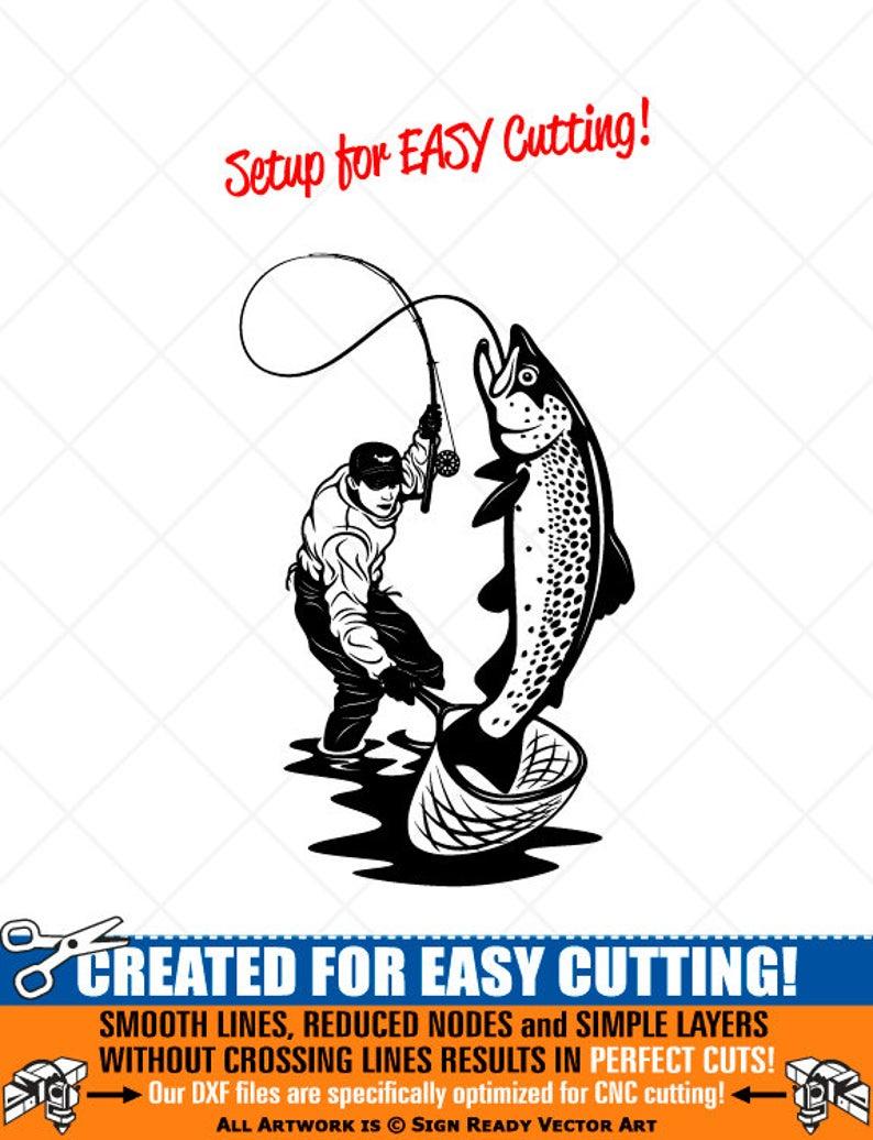 Fisherman clipart salmon fishing. Fly fish vector clip