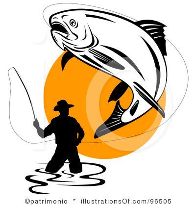 Fisherman clipart salmon fishing.  free clipartlook