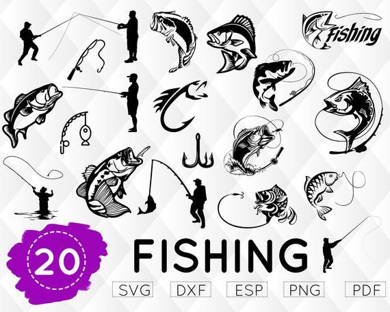 Fishing hook . Fisherman clipart svg