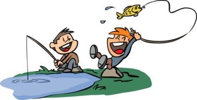 Fishing clipart. Free weekend for kids