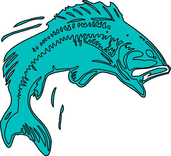 El pescado azul clip. Fishing clipart bass
