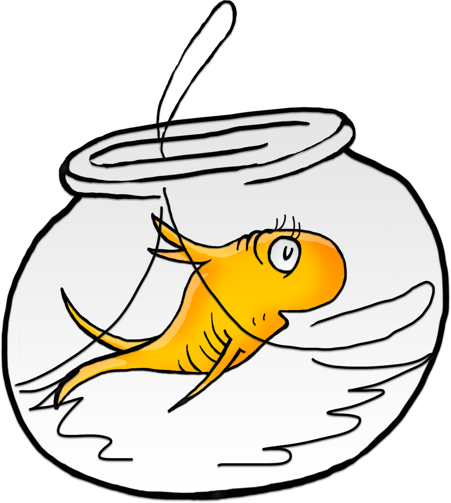 Seuss bowlwithfish white png. Fishing clipart bowl