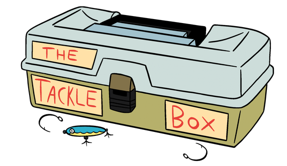 About the tackle . Fishing clipart box