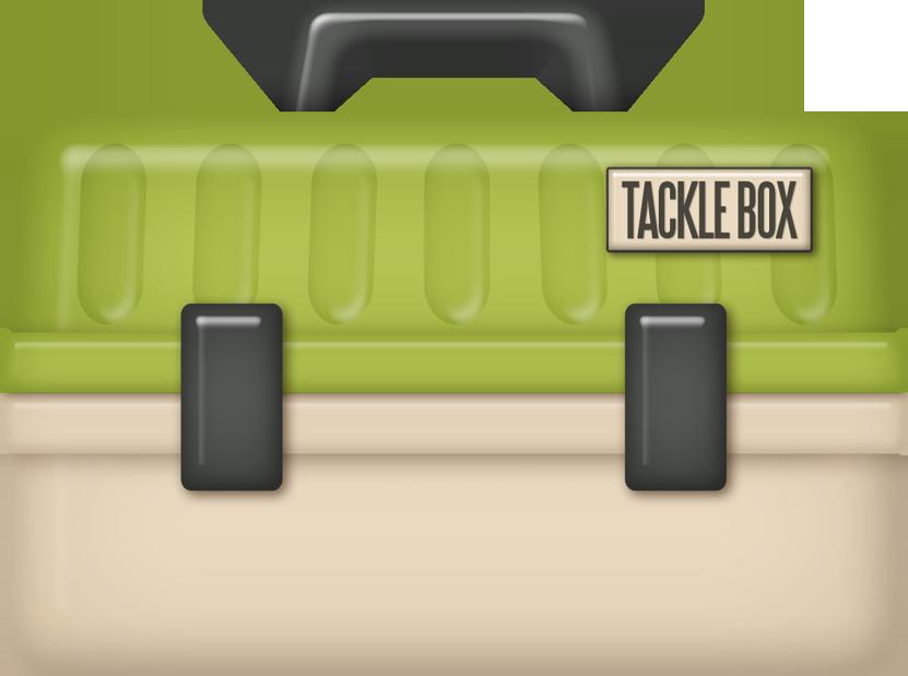 Kaagard fishinghole tacklebox png. Fishing clipart box