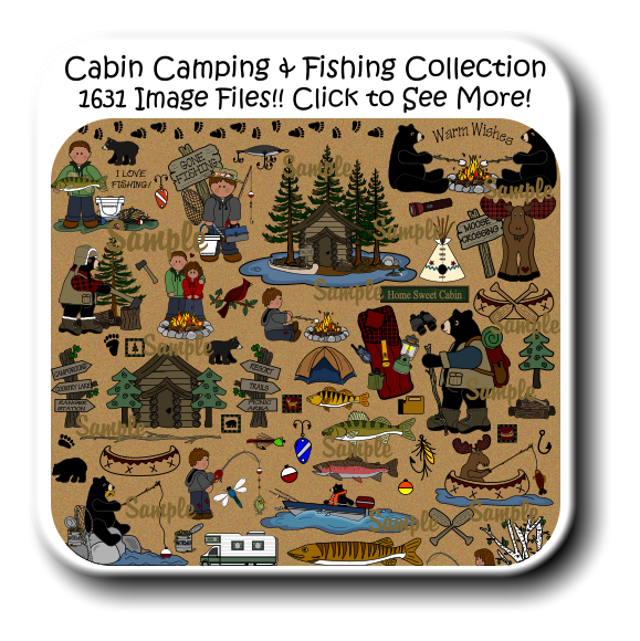 For digital printables and. Fishing clipart camping