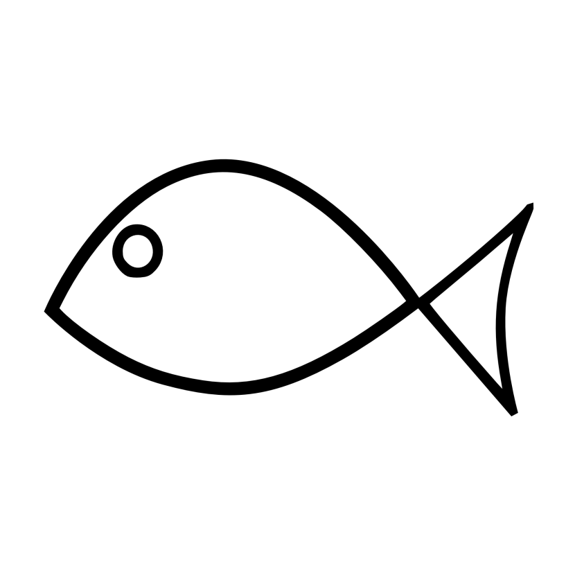 Fishing clipart deep sea fishing. Black and white fish