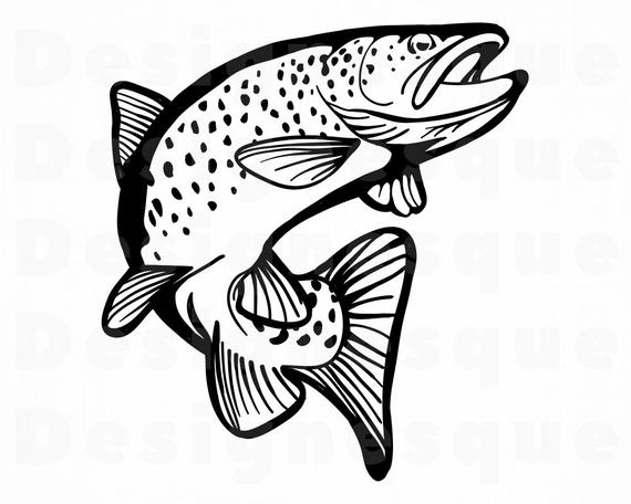 Fishing clipart fish. Svg files for cricut