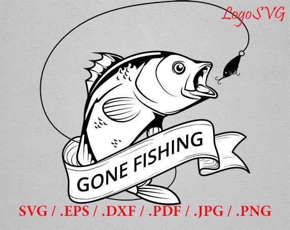 Logo on svg hunting. Fishing clipart fish hunter
