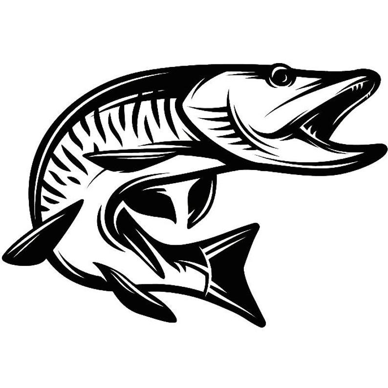 Musky fresh water hunting. Fishing clipart fishing competition