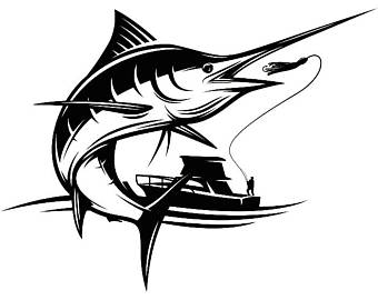 Marlin etsy . Fishing clipart fishing competition