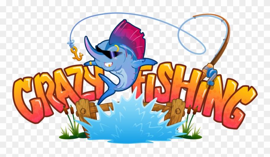 Fishing clipart fishing game. Releasing vr crazy logo