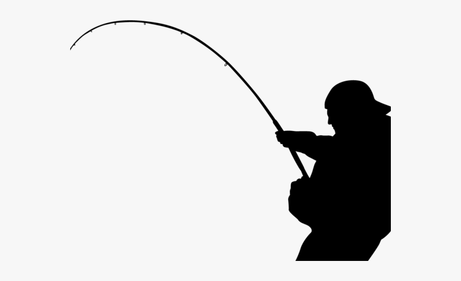 Pole outline man transparent. Fishing clipart fishing tackle