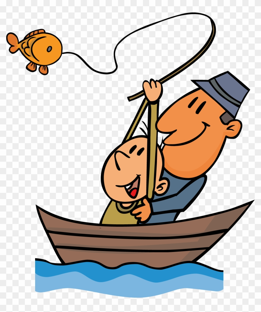 Fishing clipart go fish. Pencil and in color