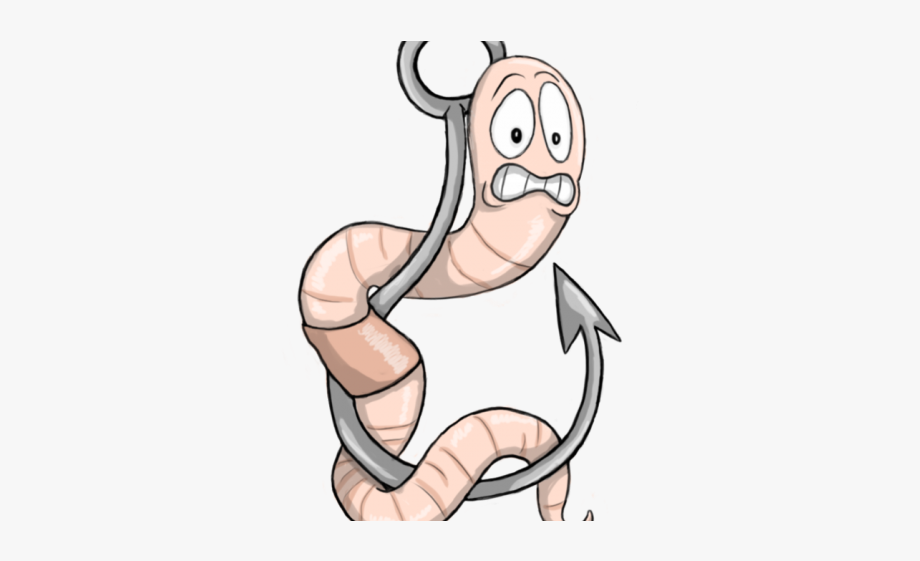 On hook free cliparts. Worm clipart realistic