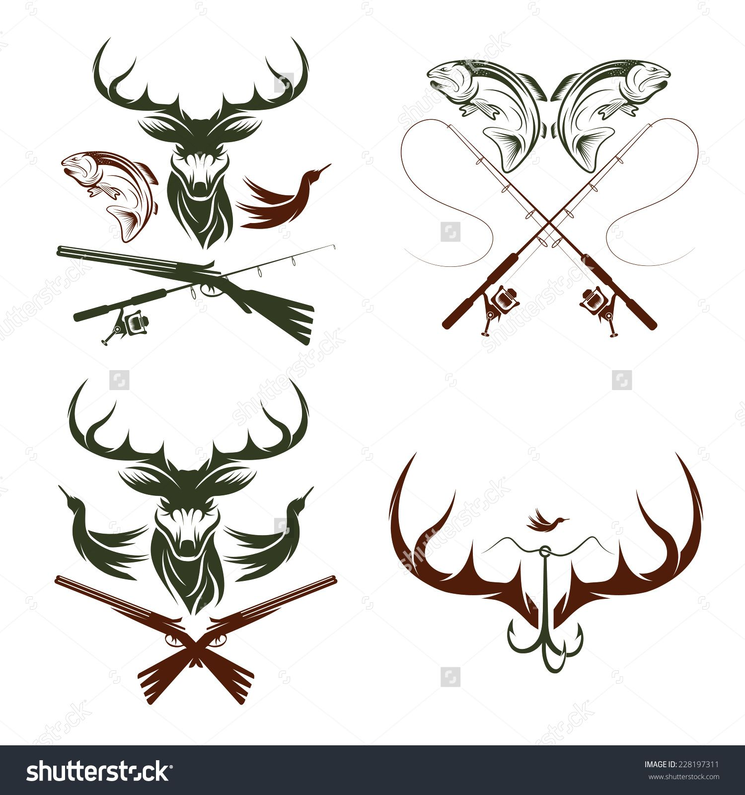 And fishing google search. Hunting clipart themed