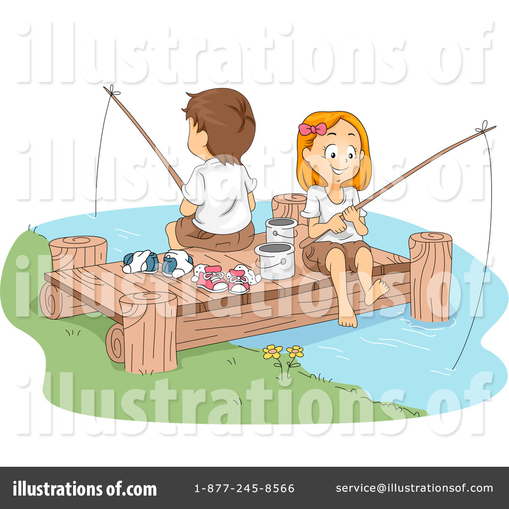 Fishing clipart illustration. By bnp design studio