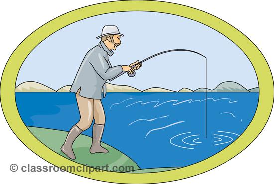 Man classroom image . Fishing clipart lake fishing