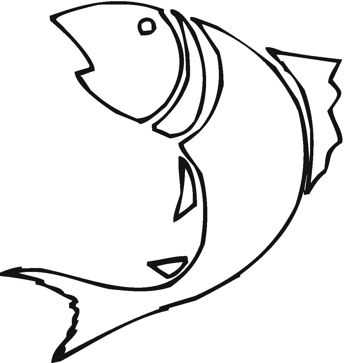 Free fish download clip. Fishing clipart line art