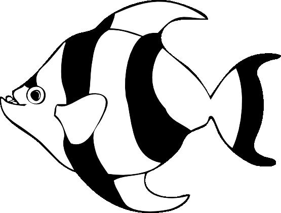 Fishing clipart line art. Tropical fish clip black