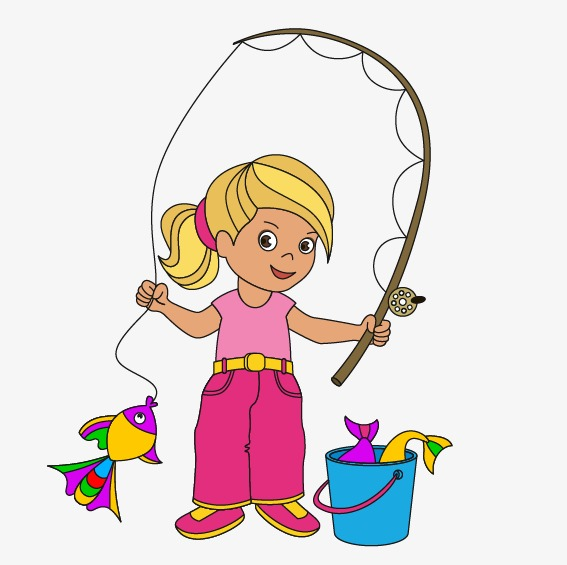 Free download best . Fishing clipart little girl