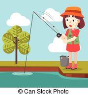 Fishing clipart little girl. Station