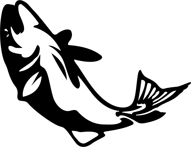 Stylized fish medium image. Fishing clipart silhouette